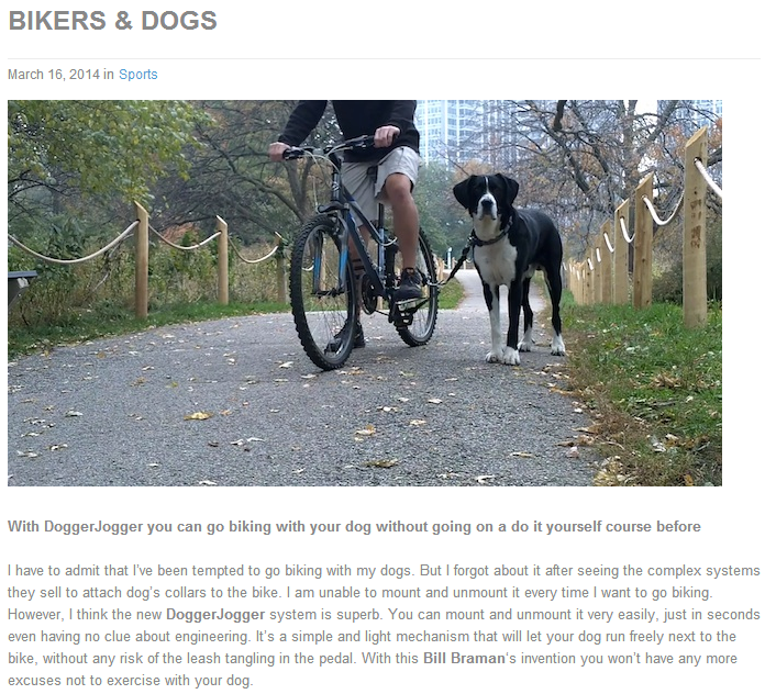 "Thank you to the dog lovers in Spain at www.ifweweredogs.com for  the complimentary article!   As they said, ""No excuses!"""